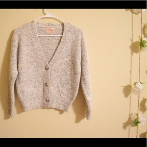 Urban Outfitters Crop Button Up Sweater